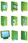 Green Folder Icon Set